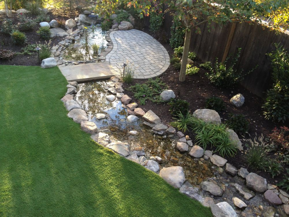 artificial stream designed for backyard